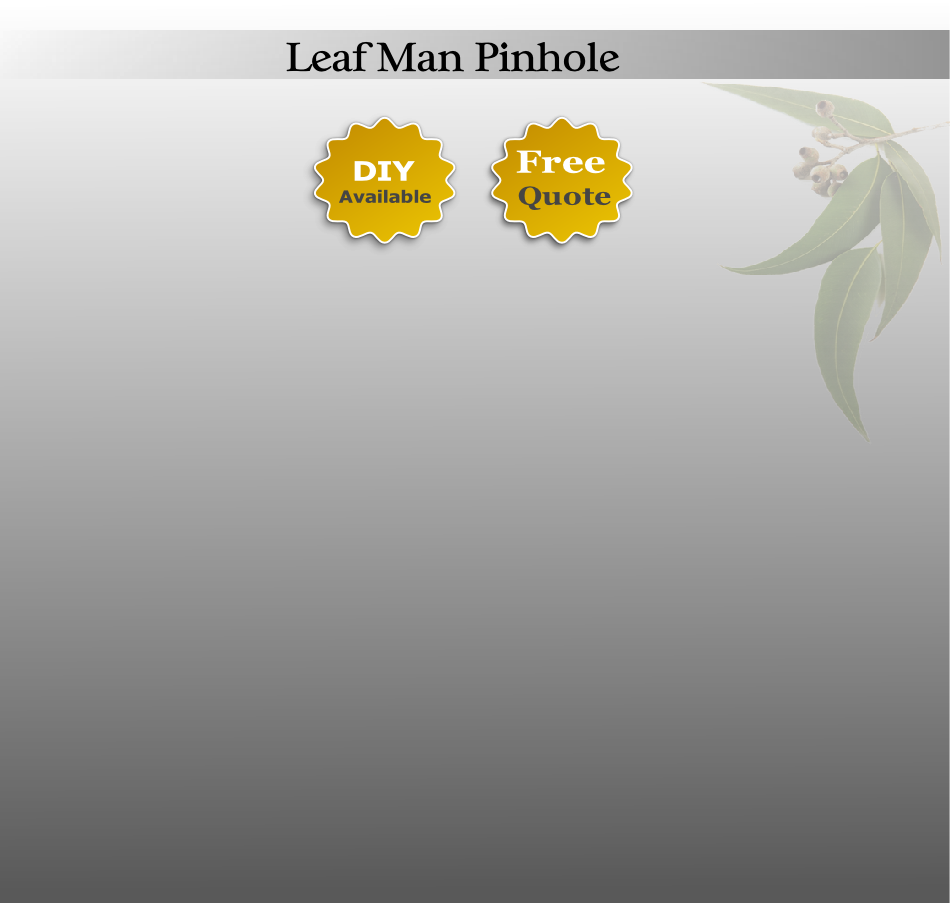 Pin Hole Leaf Man Guttering Protection Australia Wide